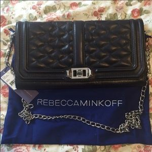Rebecca Minkoff Love crossbody bag in midnight